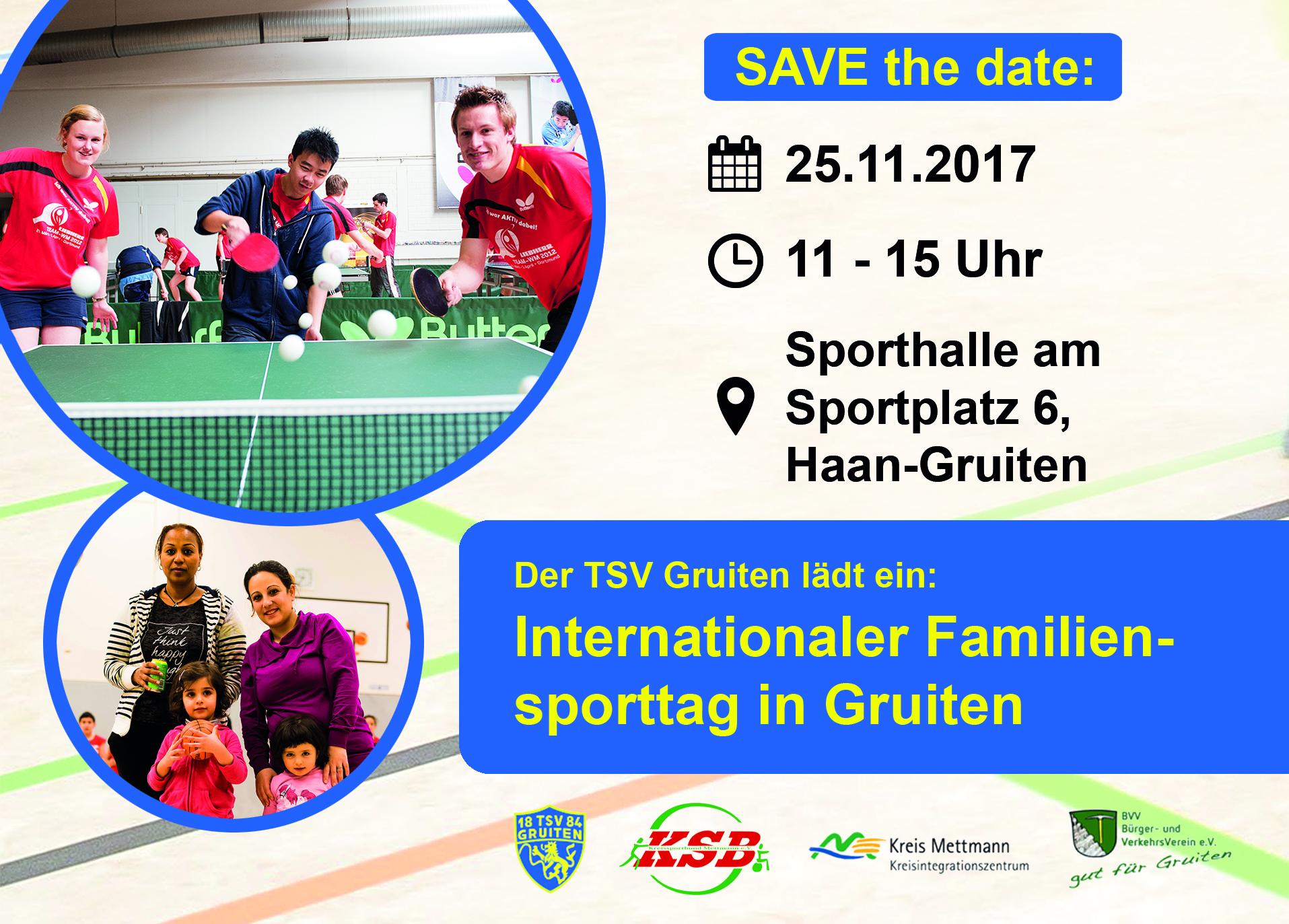 Internationaler Familiensporttag in Gruiten